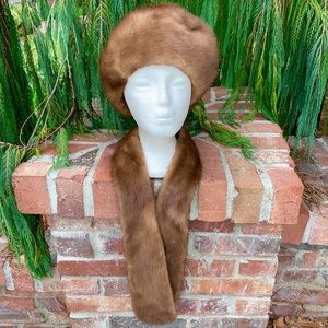 Accessories - Mink Fur Hat & Scarf Cute 4 Fall Made in Germany